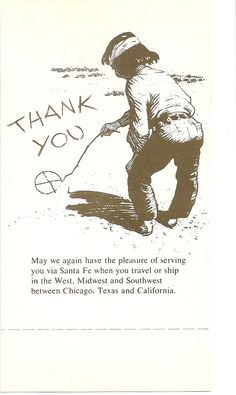 "https://flic.kr/p/6WSRVu | Back Side Of Santa Fe Dining Car Check | Chico says...""Thank you""! I always liked this particular Chico ad. When BNSF took over, I saw this somewhere, and Chico was shown writing ""Goodbye""...if you love Santa Fe, it was really sad. I wish I could remember where I saw it, and wish I had kept track of it!"