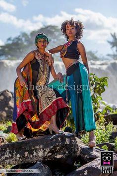 Waterfall PhotoShoot By Kenya's Bowtie Events | FashionGHANA.com (100% African Fashion)