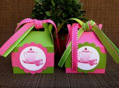 Tea Party Favor Boxes Set of 12 by KristinesCreationsSD on Etsy, $24.00