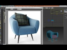 3dsmax model comfortable chair - quickly - YouTube