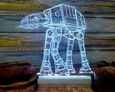 Graceful Star Wars AT-AT Walker Model LED Desk Light *Multicolor Star Wars AT-AT Walker LED Desk Light - $69.98* http://glowingwithme.com/graceful-star-wars-at-at-walker-model-led-desk-light #Star #Wars #ATAT #Walker #Multicolor #LED #Desk #Table #Light #Lamp