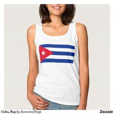 Cuba, flag basic tank top