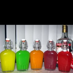 Skittles vodka! What a nifty idea for a party or even to add in an adult goodie bag!   http://mixthatdrink.com/skittles-vodka-tutorial/