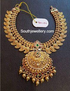 Antique Gold Mango Necklace photo