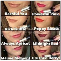 Mark Kay matte lipsticks! So many gorgeous colors! marykay.com.christineclements