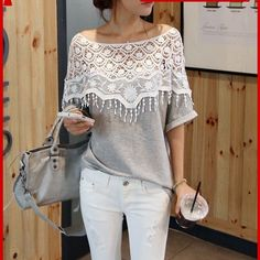 Atasan Wanita Terbaru Model b4 blouse lace wanita cool style - BMGShop