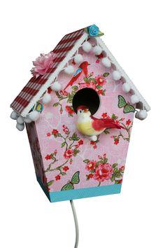 Lamp roze bloemen voor een meisjeskamer. Lamp flowers pink for a girls ...