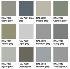 Grey Window Frames, Grey Windows, House Windows, Ral Colour Chart, Paint Color Chart, Stone Exterior Houses, Bungalow Exterior, Grey Front Doors, Front Doors With Windows