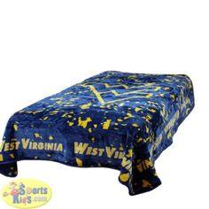 College Covers West Virginia Mountaineers Throw Blanket / Bedspread