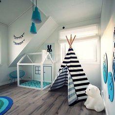 Genialne dodatki do pokoju dziecka: zjeżdżalnie, hamaki, huśtawki i tipi #POKÓJ #DZIECKA #ARANŻACJA
