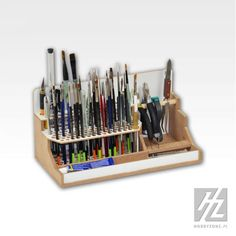 HobbyZone Brushes & Tools Workstation Module Art Studio Desk Tidy for sale online Hobby Tools, Hobby Cnc, Hobby Supplies, Tool Storage, Craft Storage, Wood Projects, Woodworking Projects, Hobby Desk, Desk Tidy