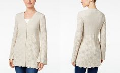 Style & Co. Ribbed Scalloped-Hem Cardigan, Only at Macy's - Cardigan Sweaters - SLP - Macy's