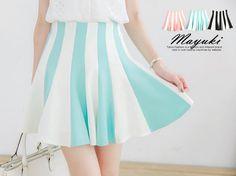 Tokyo Fashion - High-Waist Striped A-Line Skirt:   I love the vertical stripes