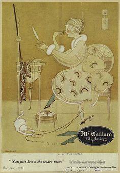 By Marjory C. Woodbury for McCallum Silk Hosiery, 1921
