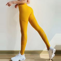 4bd2ace18f3dc US $15.99 20% OFF|Women Seamless Leggings Push Up Yoga Pants Tummy Control  Sport Trousers Workout Running Pant High Waist Stretch Gym Legging pink-in  Yoga ...