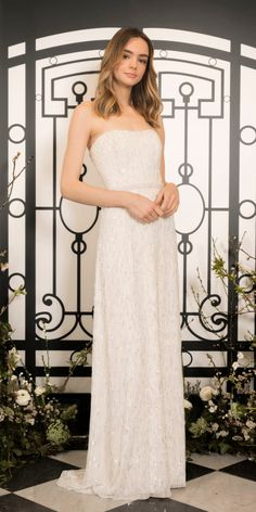 The new Jenny Packham wedding dresses have arrived! Take a look at what the latest Jenny Packham bridal collection has in store for newly engaged brides. Jenny Packham Wedding Dresses, Jenny Packham Bridal, New Wedding Dresses, Bridal Dresses, Gown Wedding, Lela Rose, The Knot, Bridal Cape, Bridal Fashion Week