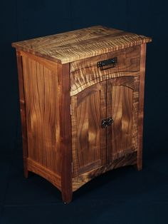 Custom Designed Arts and Crafts Black Walnut Cabinet. Love this wood!!
