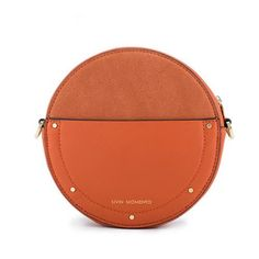 d0b1ead72a Unique Leather Circle Bag Orange Circle Purse Crossbody Handbag Clutch Bags