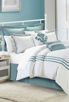 White & Sage Cosmo Comforter Set, love the colors