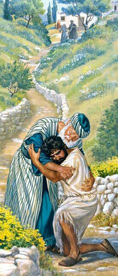 "Luke 15:18 . . .""Father, I have sinned against heaven and against you. 19 I am no longer worthy of being called your son. Make me as one of your hired men.""' 20 So he rose and went to his father. While he was yet a long way off, his father caught sight of him and was moved with pity, and he ran and fell upon his neck and tenderly kissed him."