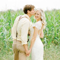 This shoot combined so many things we love about weddings in the South: bountiful family-style food, family recipes, monograms, bow ties, farm animals and a setting that truly took our breath away! Shot on a working dairy farm, Sweet Corn Sweethearts made us all fall in love with love again!