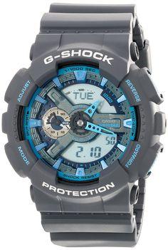 Amazon.com: Men's G-Shock Analog/Digital Watch, Grey, GA110TS-8A2: Casio: Watches