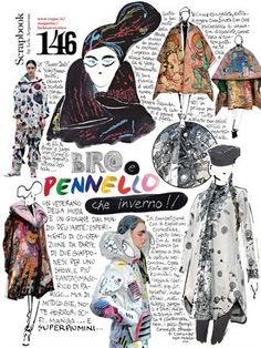 Biros and paintbrushes: what a winter! Lele Acquarone, excerpt from Vogue Italia, November 2014, n.770, p.146