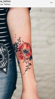 Tattoo flower outline watercolor poppies 48 ideas for 2019 Bunte Tattoos Time Tattoos, New Tattoos, Body Art Tattoos, Sleeve Tattoos, Cool Tattoos, Poppy Tattoo Sleeve, Buddha Tattoos, Tattoo Sleeves, Hand Tattoos
