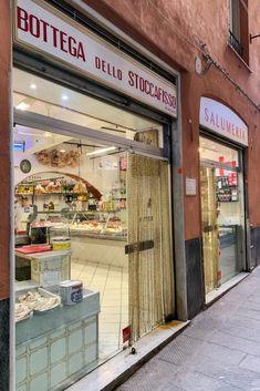 Casa dello stoccafisso, an old deli where to buy the best stockfish in Genoa Plum Tomatoes, Cherry Tomatoes, Bahama Mama, Genoa, Deli, Stew, Universe, Traditional, Dinner