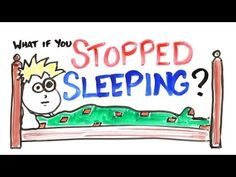 Is your lack of sleep slowly killing you? And if you were to stop sleeping right now, how long could you survive? Find out in this interesting video by the guys over at ASAP Science! Science Videos, Science News, Science Education, Ap Psychology, Sleep Forever, Sleeping Too Much, States Of Consciousness, What Happened To You, Words To Describe
