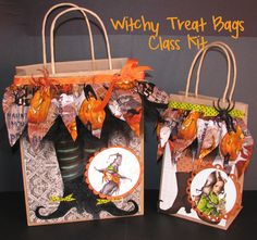 Simply Betty Stamps: Witchy Treat Bags Class Kit