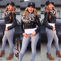 Shoes: @lolashoetique, jeans: Marciano, Jacket: ArdenB, Scarf: Gucci, @ms_boss4u- #webstagram