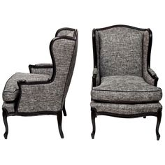 Pair of Tall Wingback Chairs | From a unique collection of antique and modern wingback chairs at https://www.1stdibs.com/furniture/seating/wingback-chairs/