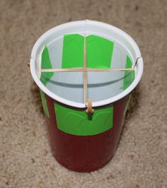 Turn a couple of plastic cups into a fun rocket launcher!  Great for active play indoors.