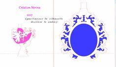 Kirigami Belle dame cadre baroque- (1)