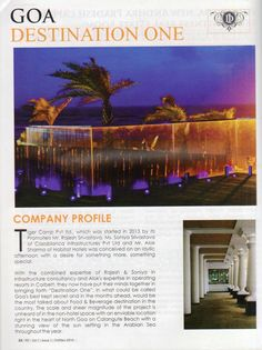 Destination One featured in Realty Fact, a leading real estate magazine. October/November 2014 issue. Page (1/3)