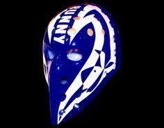 bunny larocque vintage goalie masks Hockey Helmet, Hockey Goalie, Ice Hockey, Montreal Canadiens, Nhl, Hockey Rules, Goalie Mask, Best Masks, Masked Man