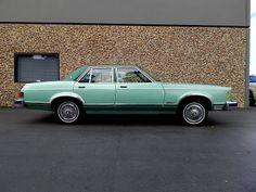 """1978 Ford Granada GHIA in original """"Medium Jade"""" with """"Dark Jade"""" vinyl roof and interior. Original California """"blue plates""""!"""