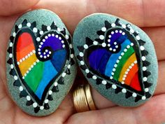 Perfect Together Magnets/ Painted Rocks / Sandi Pike Foundas / Cape Cod Sea Stones