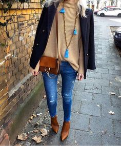 //Jacket Second Female//Sweater Selected Femme//Necklace Mala by Love//Bag Chloe//Denim Zara//Boots Sagiakos//Hat Davina Mulford// Zara Boots, Bootie Boots, Tommy Hilfiger, Street Wear, Sweaters For Women, Booty, Female, Denim, How To Wear