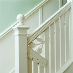 Revive Your Railings - porch railing would be nice revived.  Add drama to a staircase with distinctive railings or embellishments. Architectural-salvage and reuse centers are hot spots for ideas and materials