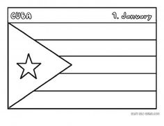 Printable flag of cuba coloring page - Printable Coloring Pages For Kids