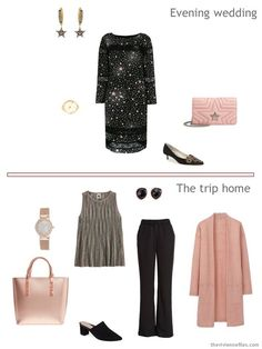 6. 2 outfits from a very small travel capsule wardrobe