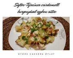 Sajtos-Tejszínes csirkemell burgonyával egyben sütve – SzilvaMag