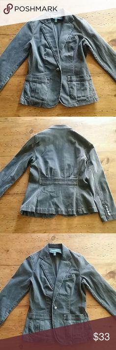 Ralph Lauren Grey Denim Blazer Great condition, flattering jacket/blazer. Ralph Lauren Jackets & Coats Blazers