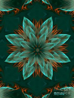 The Flower Of Hope - Optimistic Abstract Art By Giada Rossi Digital Art