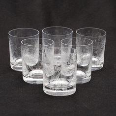 "VICKE LINDSTRAND. ""Sankt Göran"", whiskyglas, 6 st, Kosta Boda."