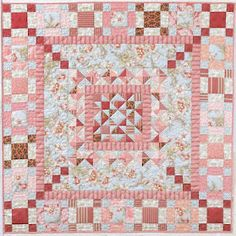 """Pat sloan L5531_antiquemist  Her quilting book is called """"Focus On the Center""""."""