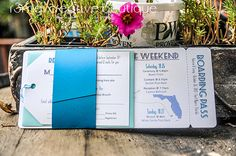 Boarding Pass Wedding Invitations by r3mg - www.r3mg.com - Based in Chicagoland, available for design internationally