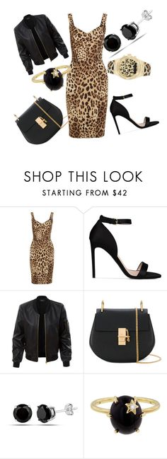 """Night on the town"" by akawardmermaid12 ❤ liked on Polyvore featuring Dolce&Gabbana, STELLA McCARTNEY, LE3NO, Chloé, Andrea Fohrman and GUESS"